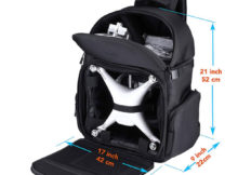 Lykus DBP-100U Water Resistant Travel Backpack for DJI Phantom 4 / 4 Pro, Phantom 3 and Phantom 2